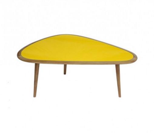 Fifties Sofabord gul