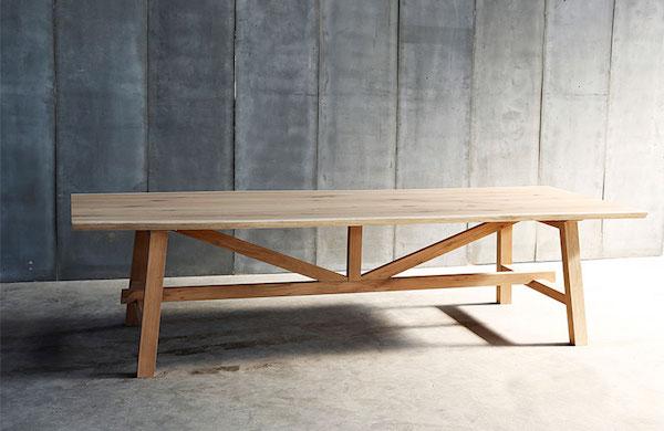 spisebord egetræ.