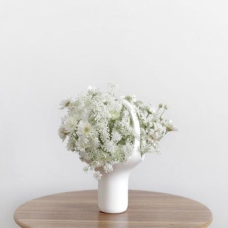 Vase small hvid
