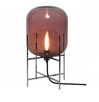 Oda Lampe Medium Aubergine:Sort