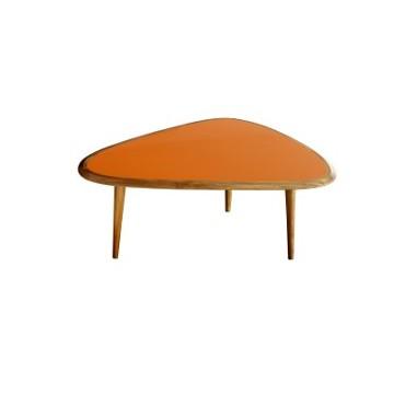 sofabord fifties orange small