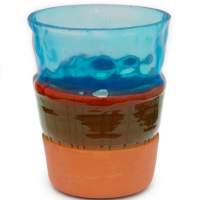 Overlay Vase Blå L