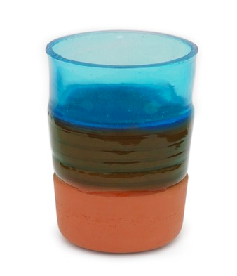 Overlay Vase Blå M
