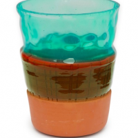Overlay Vase Grøn L