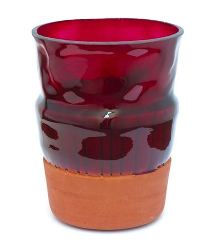Overlay Vase Rød L