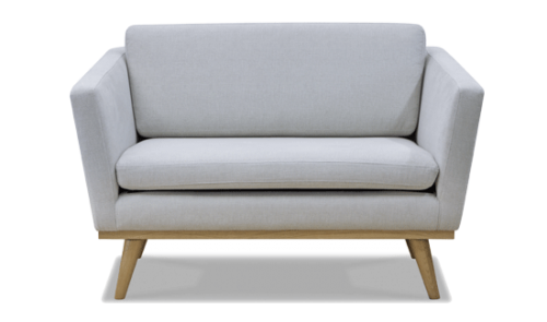 Sofa fifties 120cm ficelle beau marche for Sofa exterior 120 cm