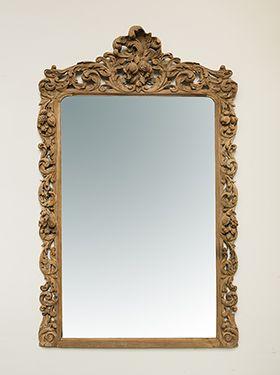 Spejl træ 190x116cm