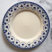 Fransk tallerken blå