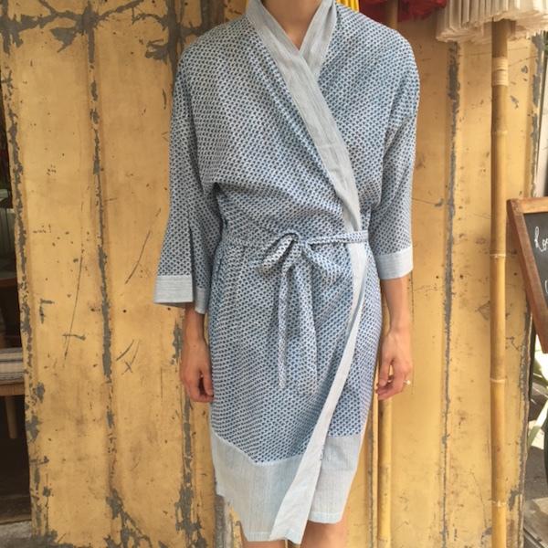 Kimono Blå