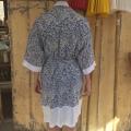 Kimono Hvid blå back
