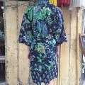 Kimono mørkeblå back.