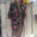 Kimono sort gul