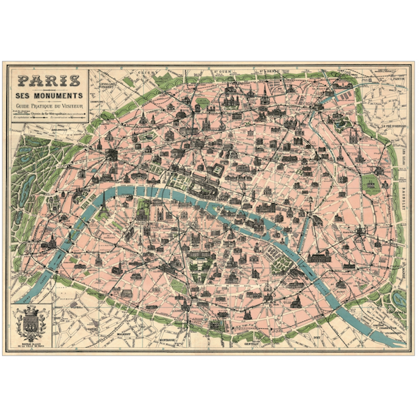 Plakat-Paris-ses-monuments