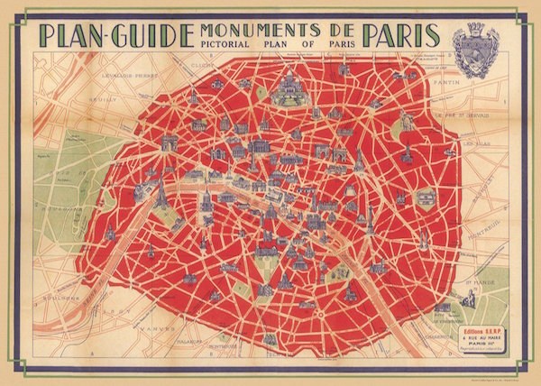 Plakat Plan Guide Paris