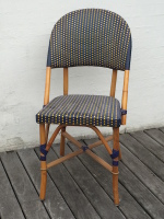 Spisestol-blå-gul