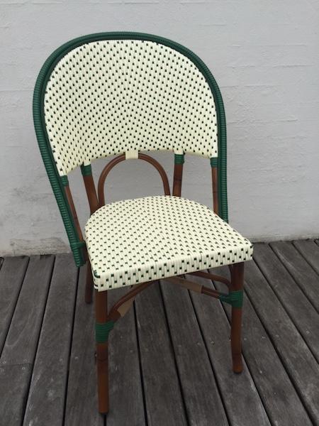 Spisestol-grøn-hvid