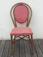 Spisestol - rød-hvid