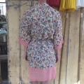 kimono små blomster lyserød