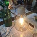 Bordlampe Glas & Træ