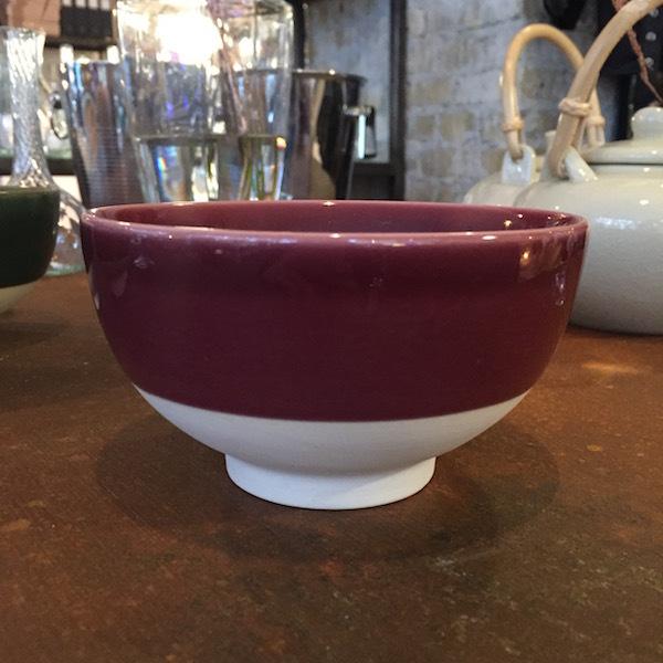 Keramik Skaal bordeaux
