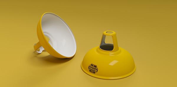 Coolicon-loftlampe-gul