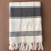 Fouta organic cotton blue