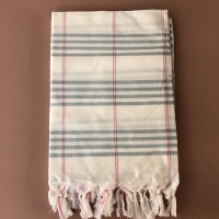 Fouta organic cotton green red