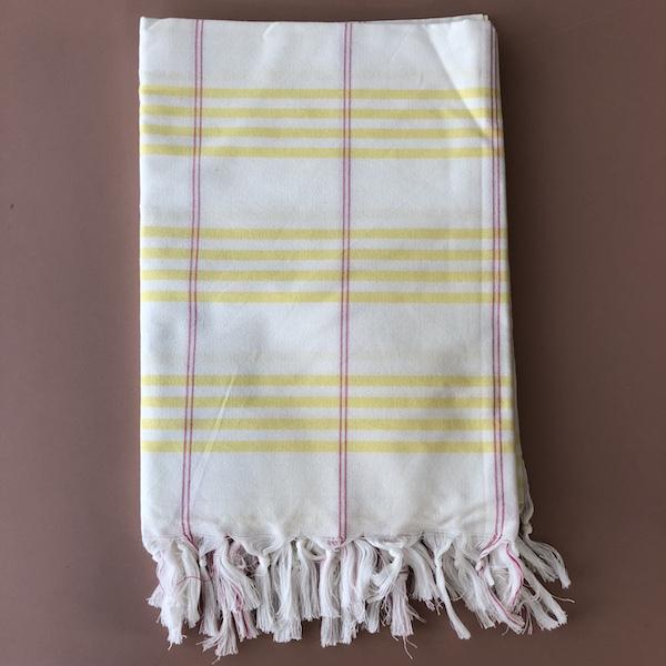 Fouta organic cotton yellow